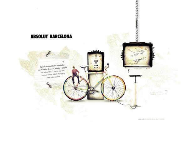 伏特加最新广告_绝对巴塞罗那