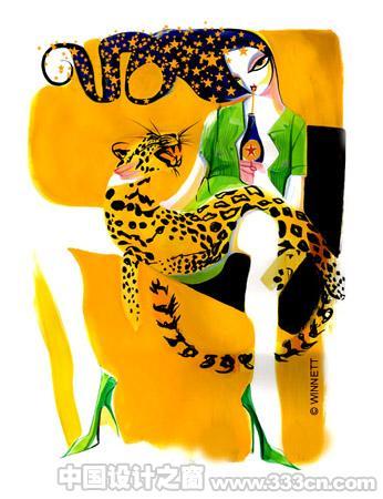 Peter Winnett时装插画