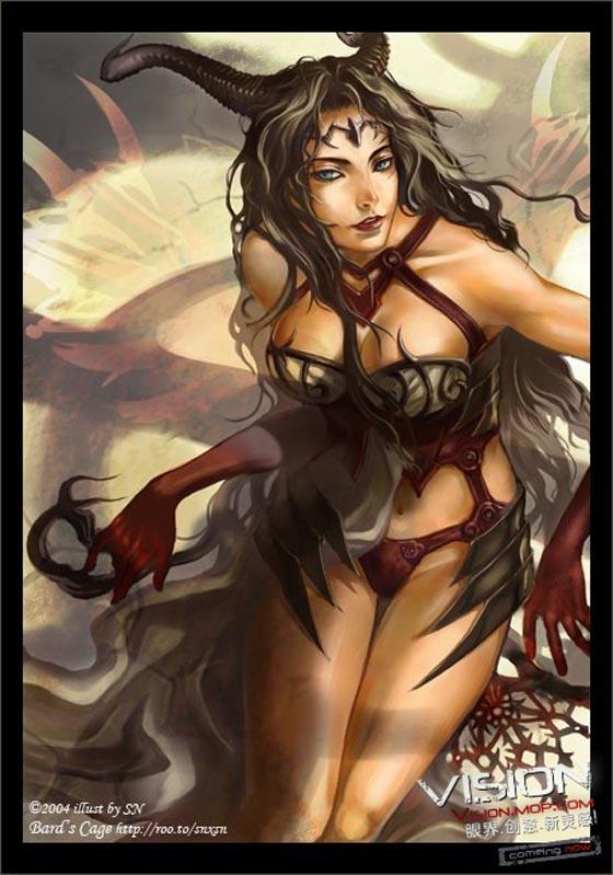 性感女神-国外艺术家精美CG插画,插画设计